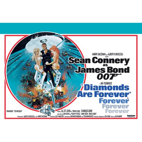 Bond Diamonds Are Forever - Circle Vintage Advertisement Canvas Wall Art