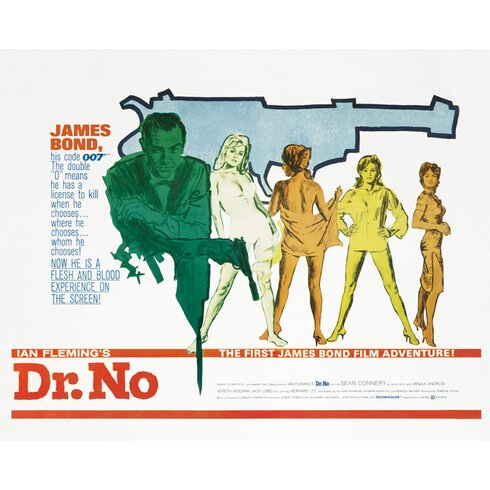 James Bond - Dr No Gun Canvas Wall Art