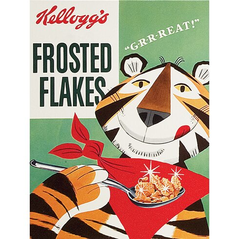 Vintage Kelloggs - Frosted Flakes Vintage Advertisement Canvas Wall Art