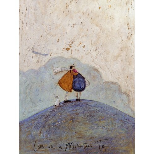 'Love on a Mountaintop' by Sam Toft Wall art on Canvas
