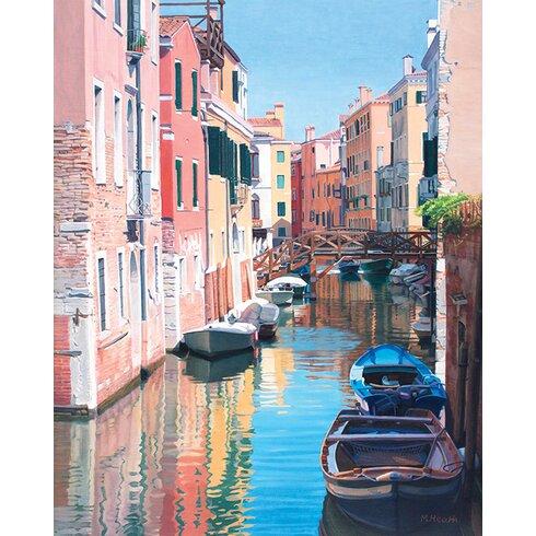 Margaret Heath - Venice, Canal Reflections Canvas Wall Art