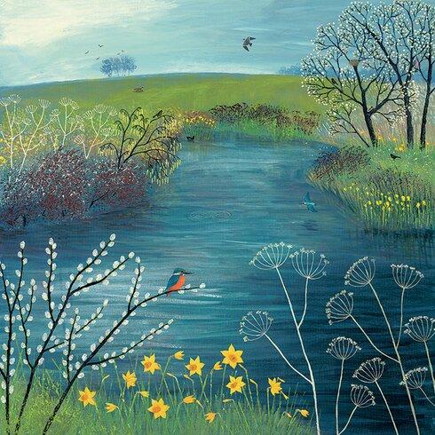 Jo Grundy Pool - Spring at Kingfisher Canvas Wall Art
