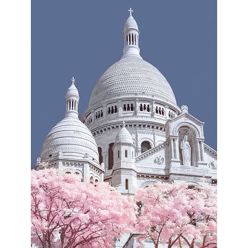 David Clapp - Sacre Coeur Infrared, Paris Canvas Wall Art