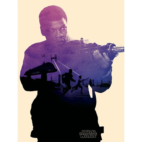 Star Wars Episode VII - Finn Tri Canvas Wall Art