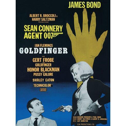 James Bond - Goldfinger - Hand Vintage Advertisement Canvas Wall Art