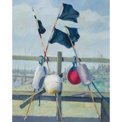 Jane Hewlett - Lobster Pot Buoys Canvas Wall Art