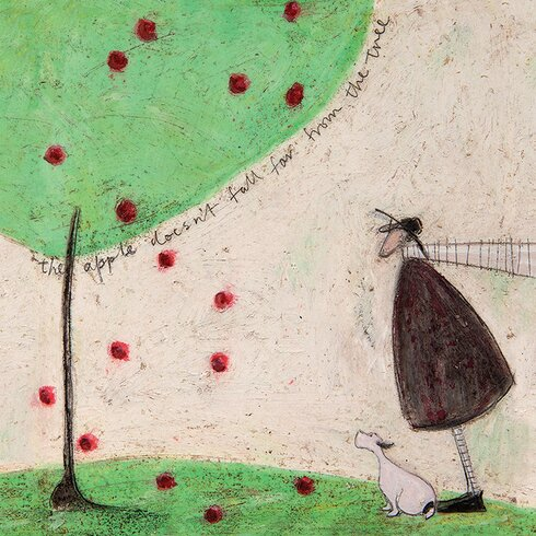 The Apple Doesn't Fall Far from the Tree by Sam Toft Canvas Wall Art