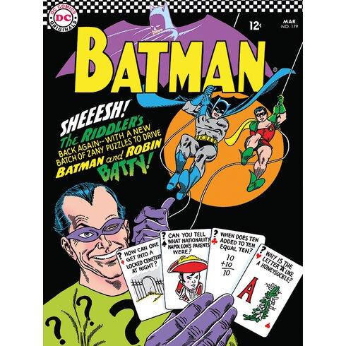 Batman - The Riddlers Vintage Advertisement Canvas Wall Art