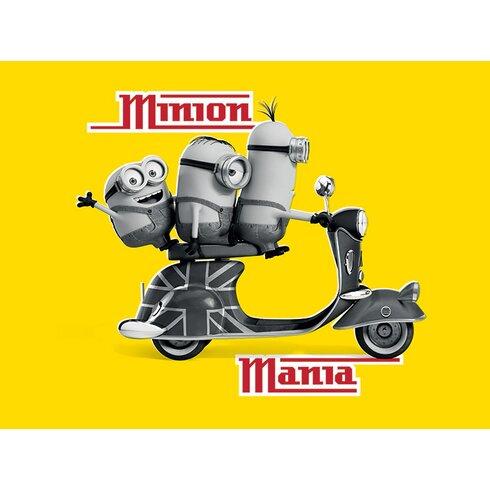 Minions - Minion Mania Yellow Vintage Advertisement Canvas Wall Art