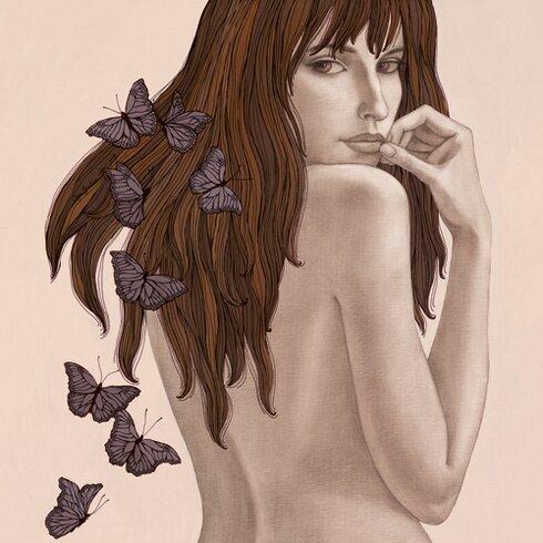 "Kunstdruck ""Papillons"" von Olga Gouskova"