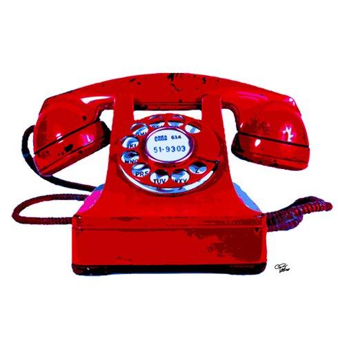 """Acrylglasbild """"Red Phone"""" von Morgan Paslier, Kunstdruck"""