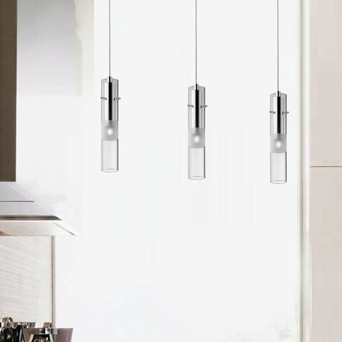 Bar 3 Light Kitchen Island Pendant