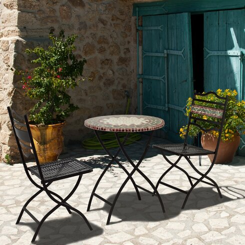 Gordes 2 Seater Bistro Set with Upholstery