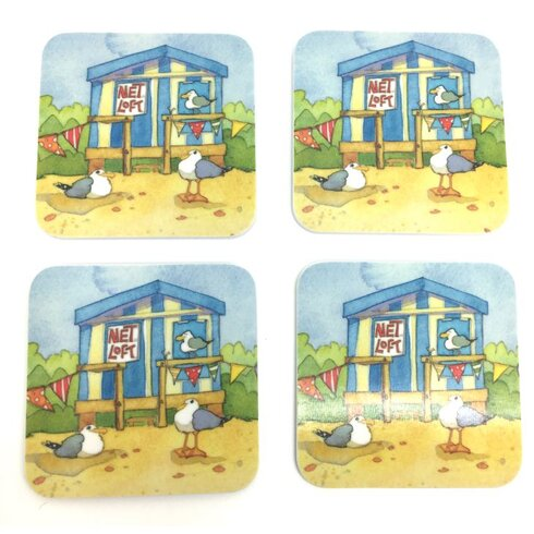 A Day At The Seaside Melamine Coasters