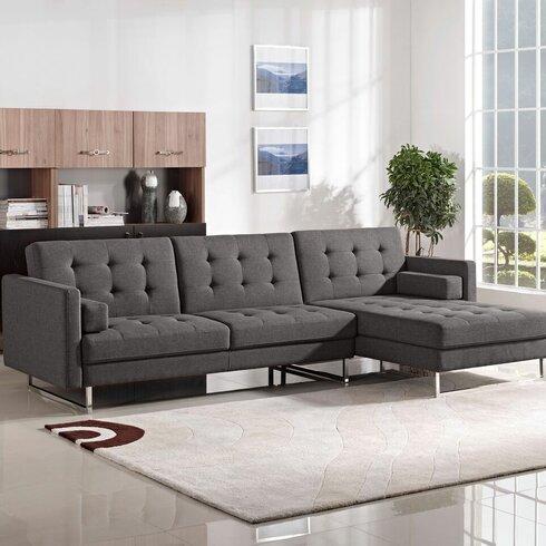 Diamond Sofa Opus Sleeper Sectional Amp Reviews Wayfair