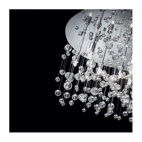 Neve 15 Light Semi-Flush Ceiling Light