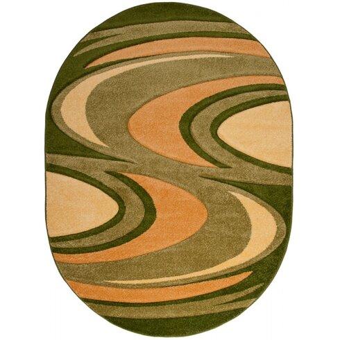 Garnet Green Area Rug