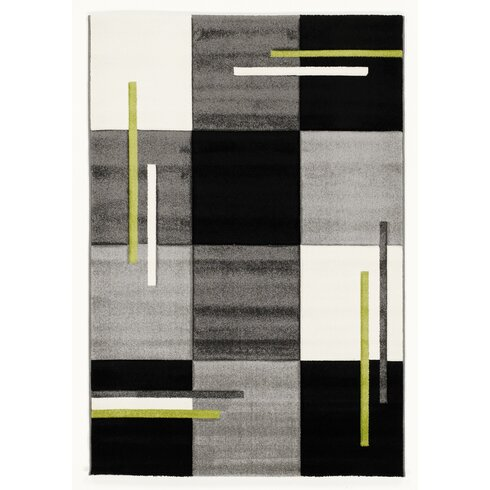 Black/Green Area Rug