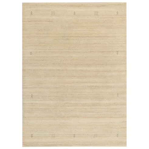Evry Lori Hand-Knotted Cream Area Rug