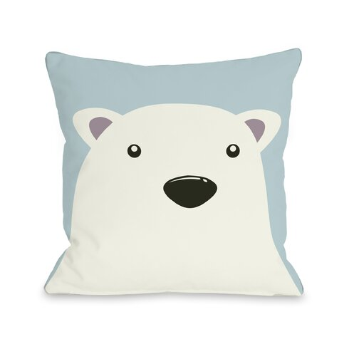 Polar Bear Throw Pillow : One Bella Casa Polar Bear Throw Pillow & Reviews Wayfair