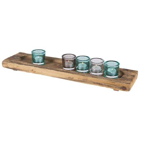 Teelichthalter-Set Clear Be Pure aus Glas