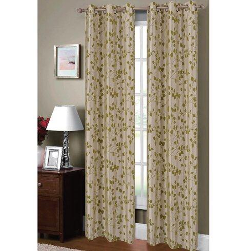 Window Elements Meadow Nature Floral Sheer Grommet Curtain