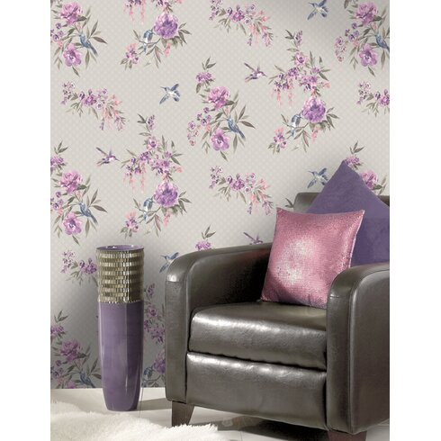 Amaya 10m L x 53cm W Floral and Botanical Roll Wallpaper