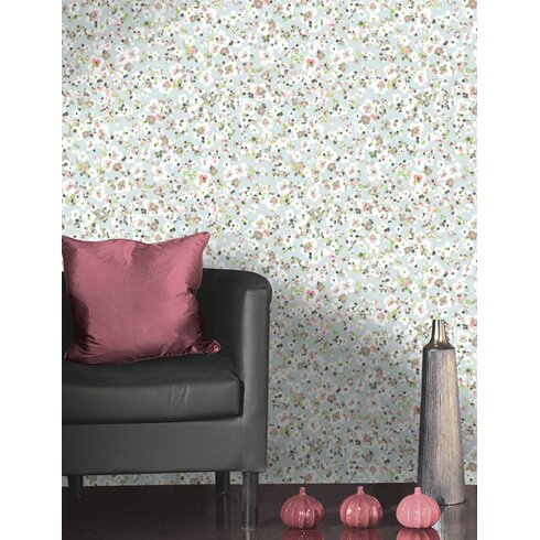 Confetti 10m L x 53cm W Floral and Botanical Roll Wallpaper