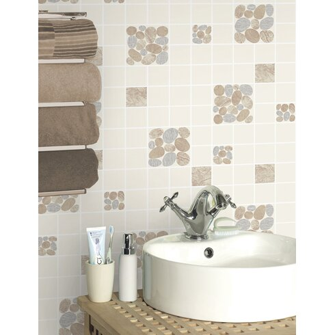 Tiling on a Roll 10m L x 53cm W Brick, Wood and Stone Roll Wallpaper