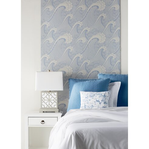 Brayden Studio Stier 8 39 X 20 Waves Of Chic Removable
