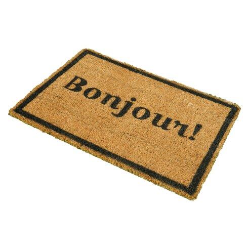 Bonjour Doormat with Border