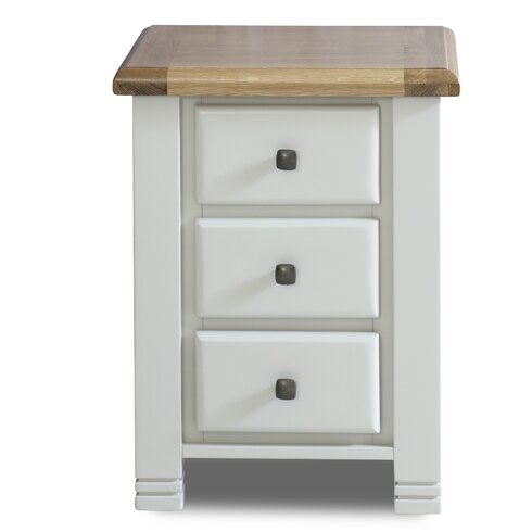 Woodstock 3 Drawer Bedside Table