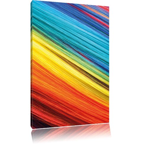 Colourful Stripes Graphic Art on Canvas