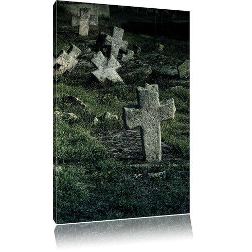 Cemetery Photographic Print on Canvas