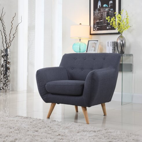 Mid Century Modern Tufted Arm Chair. Madison Home USA Mid Century Modern Tufted Arm Chair   Reviews