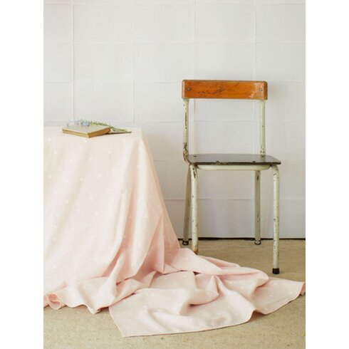 Powder Pink Tiny Triangles Tablecloth