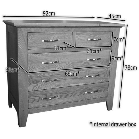 Camberley 5 Drawer Chest of Drawers