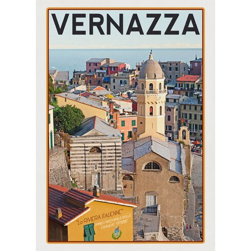 Vernazza Travel Vintage Advertisement Wrapped on Canvas