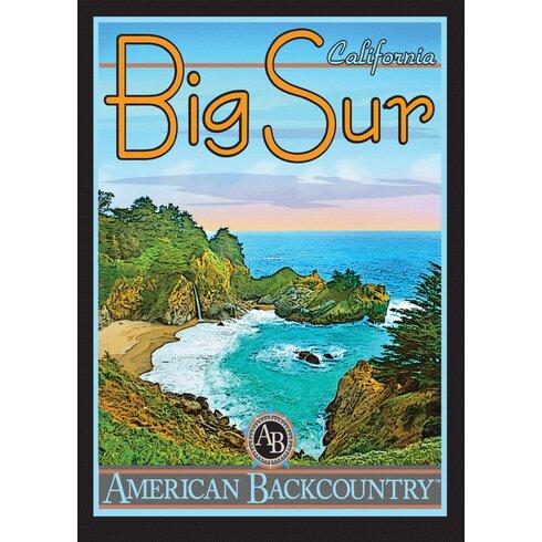 Big Sur Vintage Advertisement Wrapped on Canvas