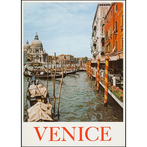 Venice Travel Vintage Advertisement Wrapped on Canvas