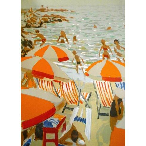 Beach Art Print Wrapped on Canvas