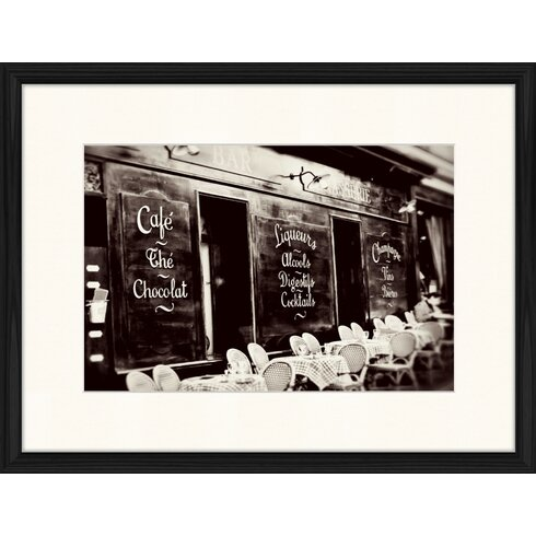 Cafe in Paris Framed Photographic Print