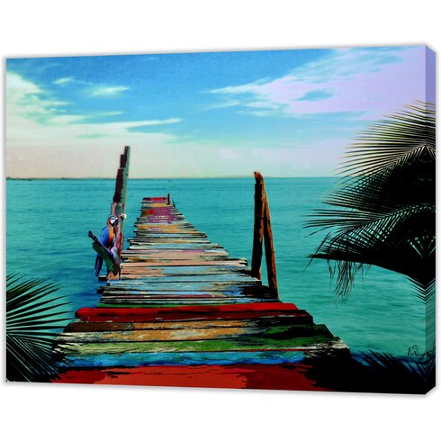 The Waters Edge Art Print Wrapped on Canvas