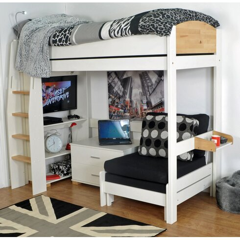 Norfolk Single High Sleeper Bed with Storage
