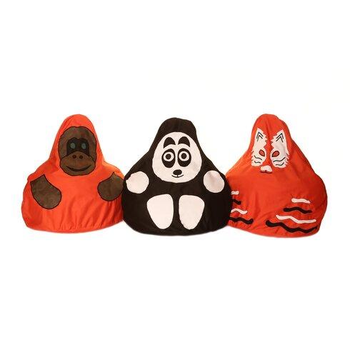 3 Piece Endangered Species Character Bean Bag Chair