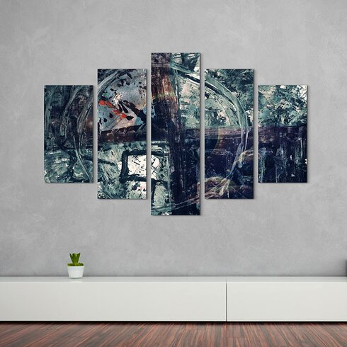Enigma Abstrakt 907 Painting Print on Canvas Set