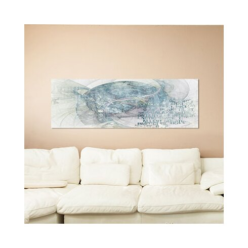 Enigma Panorama Abstrakt 380 Framed Graphic Print on Canvas