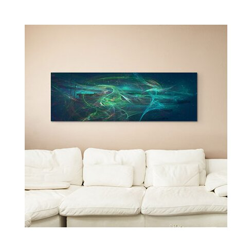 Enigma Panorama Abstrakt 1088 Framed Graphic Print on Canvas