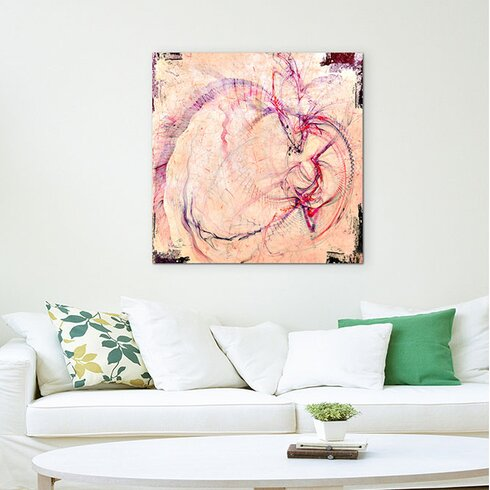 Abstract 1346 Enigma Framed Graphic Print on Canvas