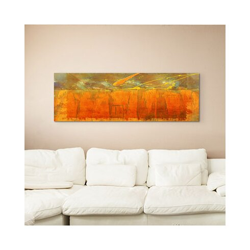 Enigma Panorama Abstrakt 942 Framed Graphic Print on Canvas